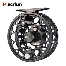 Piscifun Sword 3/4/5/6/7/8/9/10 WT Fly Reel With CNC-Machined Aluminium Material Right Left Handed Fly Fishing Reel Gunmetal