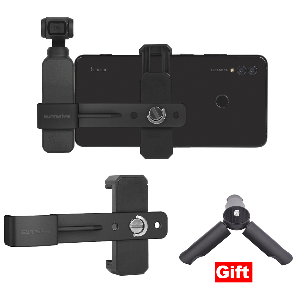 Phone Mount Bracket for DJI OSMO Pocket Handheld Gimbal Camera Stabilizer Stand Holder Adapter Converter Connector AccessoryPhone Mount Bracket for DJI OSMO Pocket Handheld Gimbal Camera Stabilizer Stand Holder Adapter Converter Connector Accessory