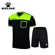 KELME 2016 Soccer Referee Jersey Suit Blank Professional Competition Referee Clothing Custom Judge Uniform Short Tracksuits 69