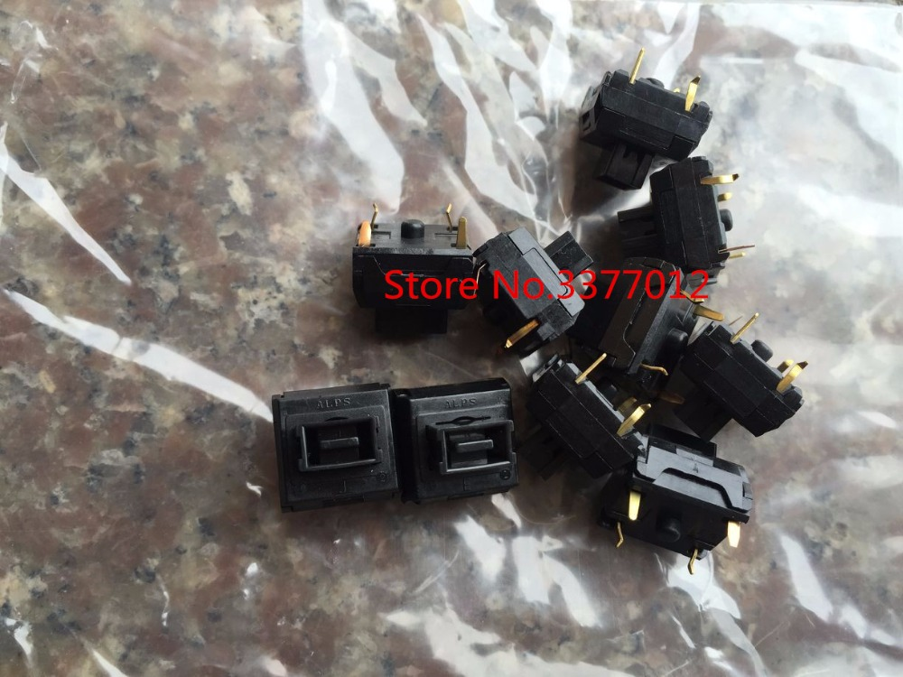 10PCS/LOT Imported original Japanese ALPS computer keyboard switch key switch 12*12*5 reset 4 foot keyboard switch [bella]genuine imported from japan alps encoder em20b4014a01 40 4 stepping with light switch 1pcs lot