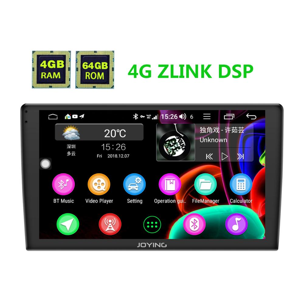 JOYING car radio Android 8.1 4G+64GB 9 inch single din 2.5D Screen GPS player audio support 4G DSP Wireless Carplay Autoradio BT-in Car Multimedia Player from Automobiles & Motorcycles    1
