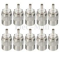 10 шт. коннектор штекер UHF PL259 plug паяльной RG8 RG213 LMR400 7D-FB кабель серебро