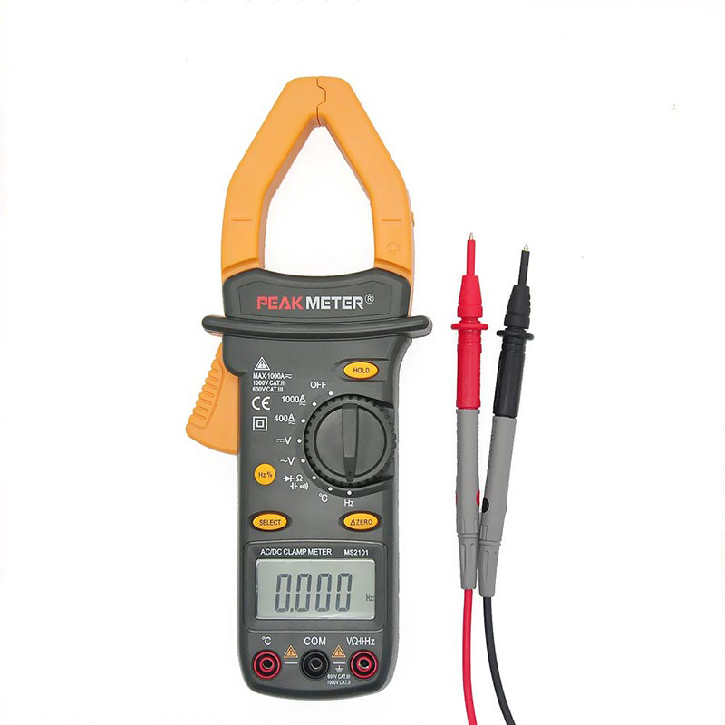 6000 Counts Official PEAKMETER MS2101 Auto Range Digital AC DC Current frequency Voltage Clamp Meter With Temperature Tester