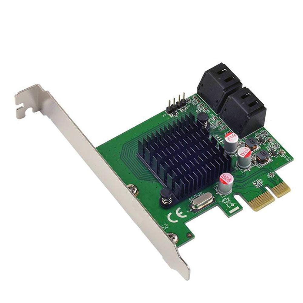 PCIe to 4-Port Internal SATA3.0 6Gb Controller Card 88SE9215 Chipset Marvell for marvell 9230 chipset pcie to 4 port sata 3 0 raid card 6gb s with low profile bracket support raid0 1 10