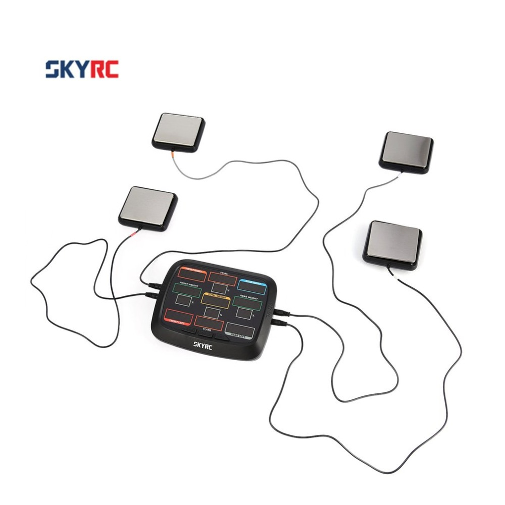 SkyRC Corner Weight RC Car Balancing Scale System Setup Kit Accessory for 18 110 112 RC Car Truck Buggy Off-road SK 500015