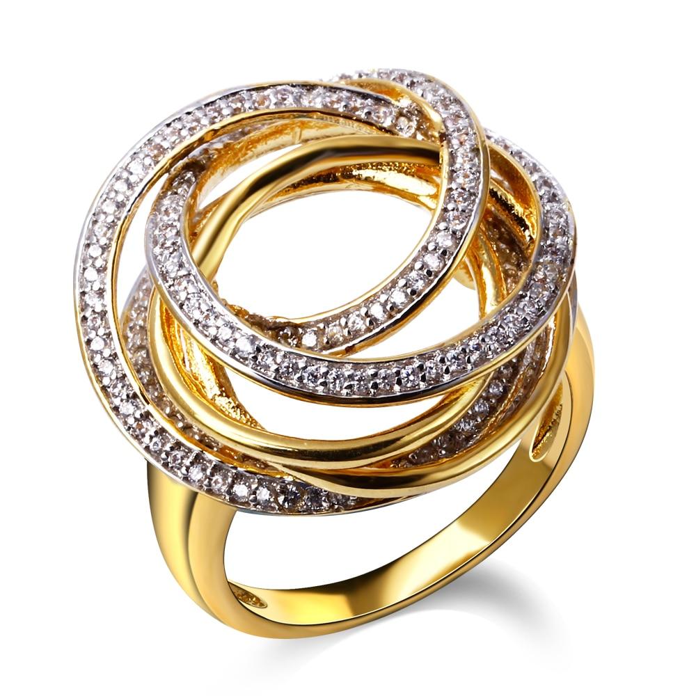aliexpress com new design enement ring gold color w cz