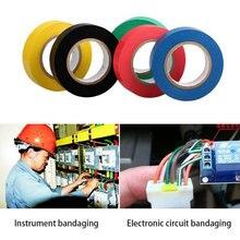 1 adet/grup 6 renk 9m yüksek gerilim PVC elektrik yalıtım bandı 3m vinil elektrik bandı kurşunlu 18mm * 10mm * 0.13mm