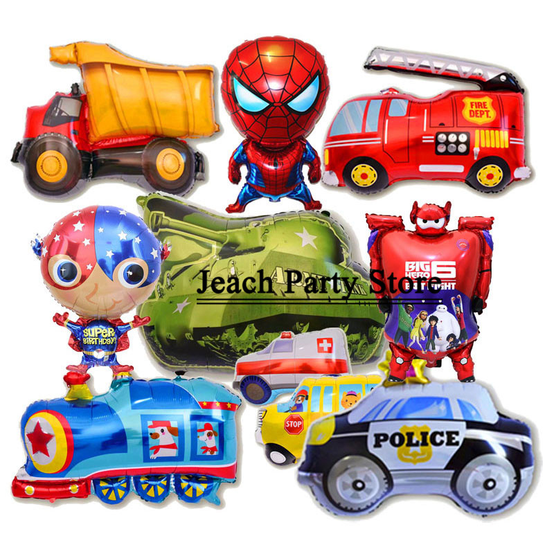 toys baby balloon car helicopter airplane birthday party decorations for boy cars children kids