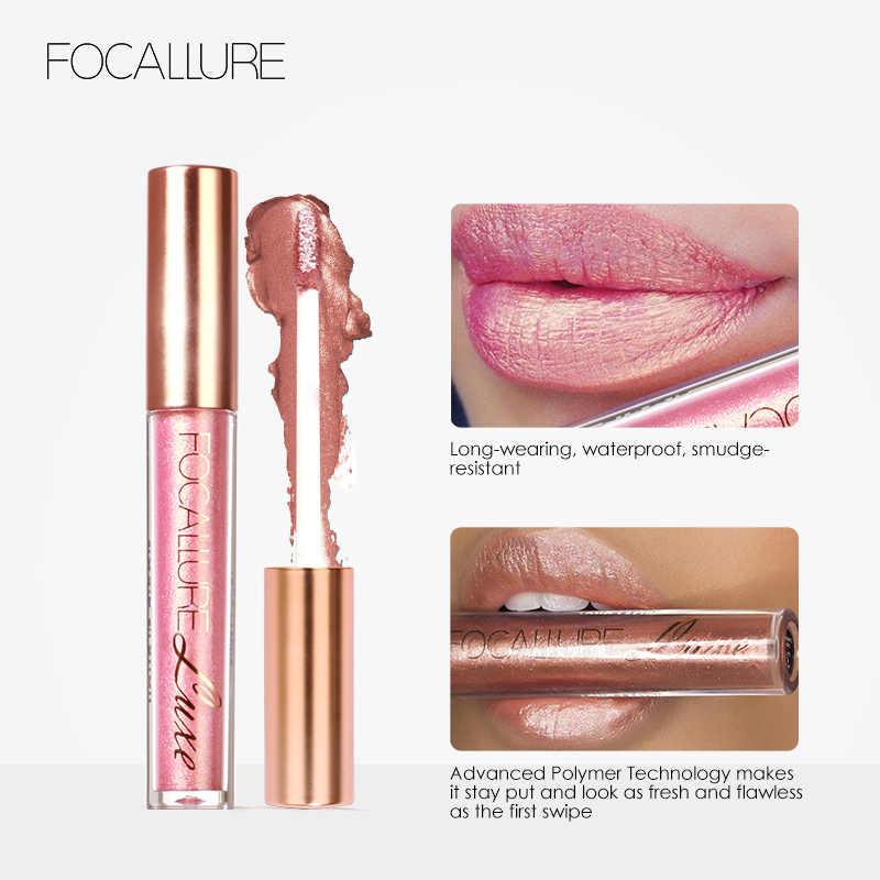 FOCALLURE impermeable Batom purpurina mate lápiz labial de larga duración brillo de labios belleza cosmético brillo de labios