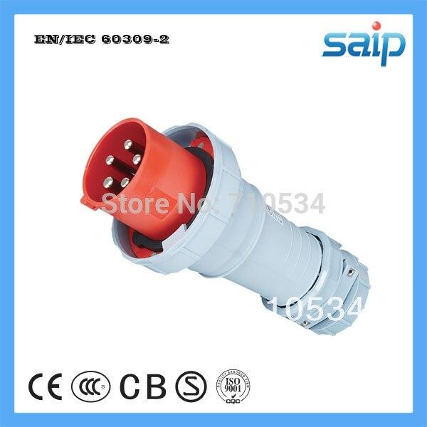 Norme internationale CEE/IEC IP67 125A prise mâle industrielle 5 pôles avec tension 400 V SP1447