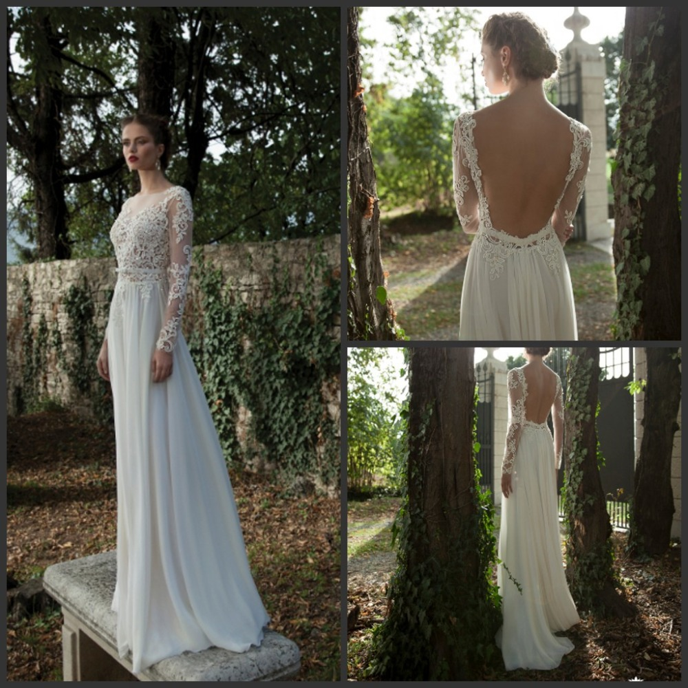 Bodice Wedding Gown: Long Sleeve Lace Wedding Dresses Berta Bridal Gown 2016