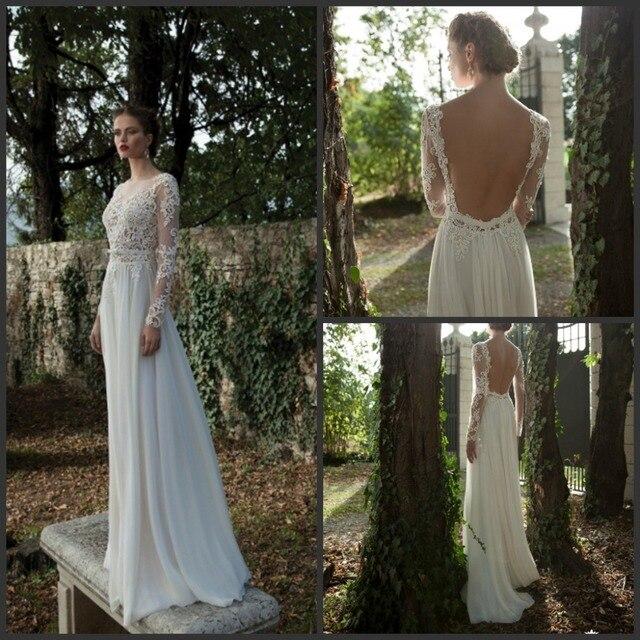 Long Sleeve Lace Wedding Dresses Berta Bridal Gown 2016 Winter ...