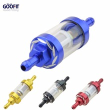 GOOFIT Universal Metal CNC Fuel Filter Replacement for Motorcycle Scooter Dirt Bike H388-006