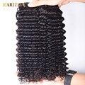 Karizma Peruvian Deep Wave 4 Bundles 100% Unprocessed Virgin Peruvian Hair Bundle Deals Deep Curly Peruvian Virgin Human Hair
