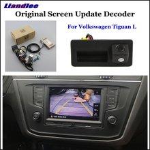 Liandlee For Volkswagen VW Tiguan L/Atlas Original Display Update System Car Reverse Parking Camera Digital Decoder Rear camera
