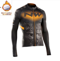 2018 NW New Winter Warm Long Sleeve Bicycle Jersey Thermal Fleece Ropa Ciclismo Maillot Men S