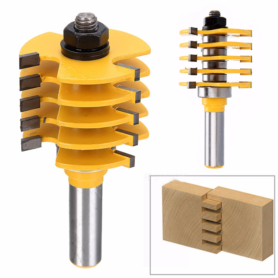1/2 Shank Box & Finger Joint Router Bit Adjustable Milling Cutter For Woodworking Engraving1/2 Shank Box & Finger Joint Router Bit Adjustable Milling Cutter For Woodworking Engraving