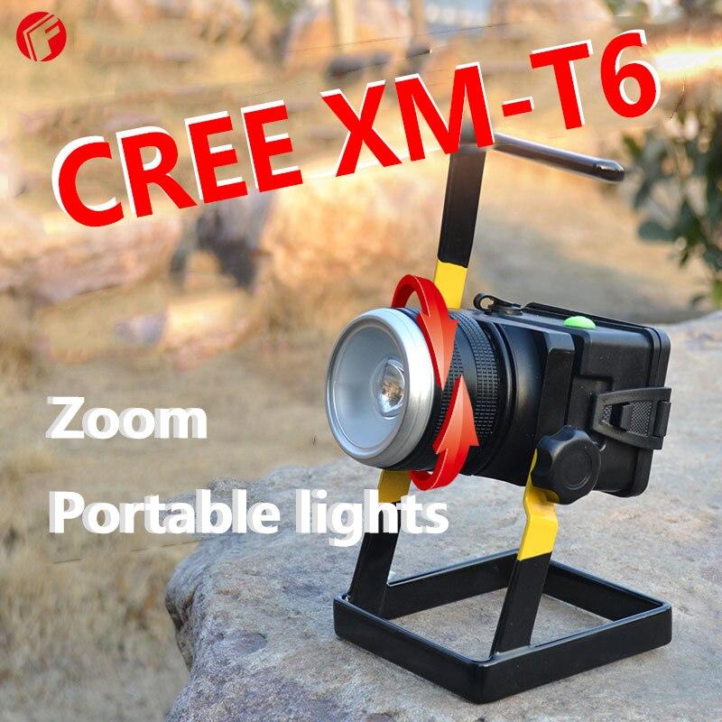 ФОТО Hunting Spotlight CREE T6 High light Rotate the zoom portable spotlight Outdoor camping night patrols LED Flashlight