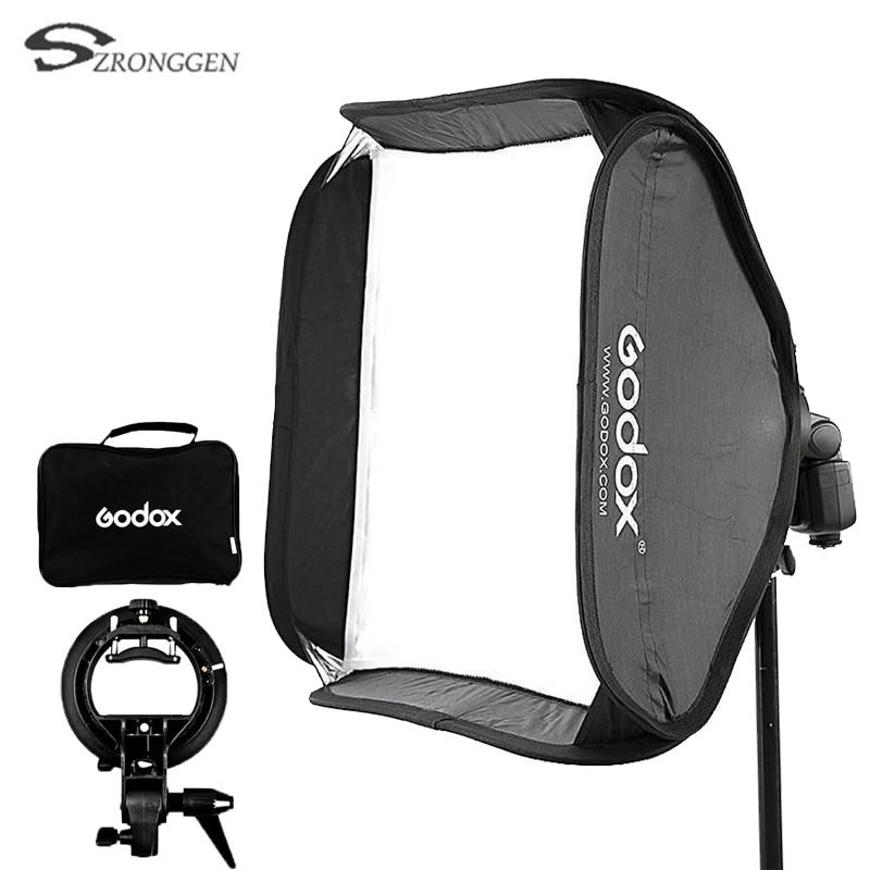 Godox 60x60 ซม. แฟลช Softbox ชุด S   Type Bracket Bowen Mount สำหรับกล้องถ่ายภาพสตูดิโอ-ใน ซอฟต์บอกซ์ จาก อุปกรณ์อิเล็กทรอนิกส์ บน AliExpress - 11.11_สิบเอ็ด สิบเอ็ดวันคนโสด 1