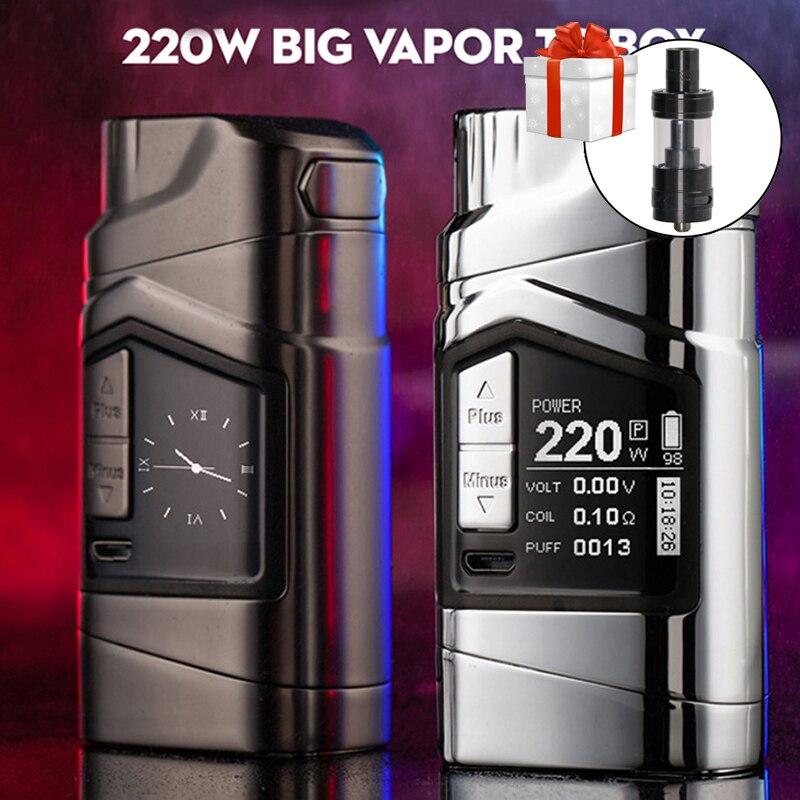 D'origine RTM GT220 VV/VW Mod 220 W boîte de tc cigarette électronique mod vaporisateur grande vapeur vaping Mod Avec 2x18650 batterie
