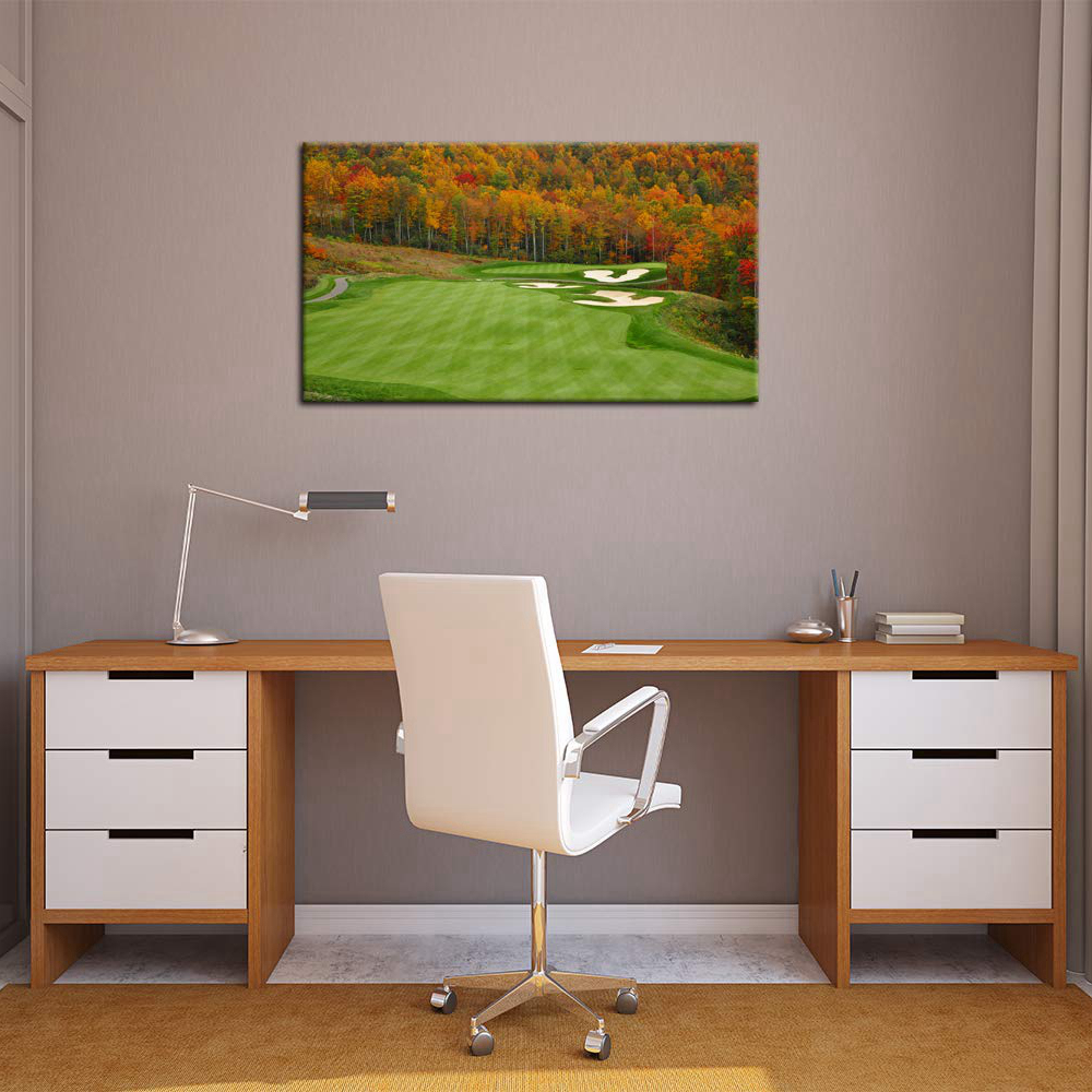HD Prints Autumn Golf Course Grass View Pictures Living ...