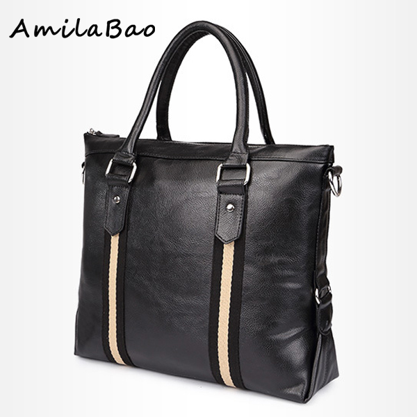 Men messenger bags leather men briefcase fashion designer handbags high quality 14 inches notebook business bag ME505