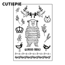 Cute Bear Birds Transparent Clear Stamps for Scrapbooking DIY Silicone Seal Photo Album Embossing Folder Paper Template Supplies