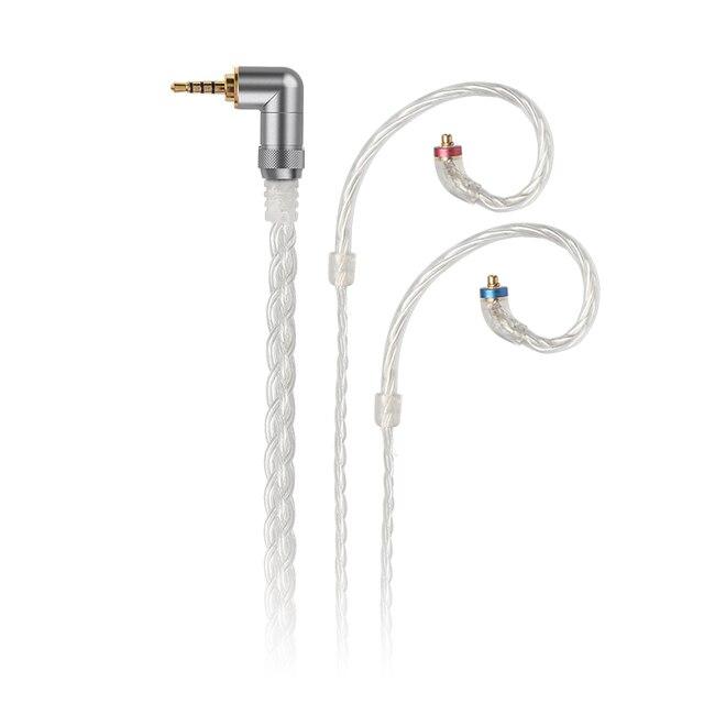 FiiO LC 2.5C/3.5C/4.4C יד ארוג MMCX מאוזן אוזניות החלפת כבל עבור Shure/JVC/FiiO