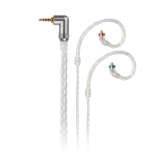 FiiO LC 2.5C/3.5C/4.4C tissé à la main MMCX équilibré câble de remplacement des écouteurs pour Shure/JVC/FiiO