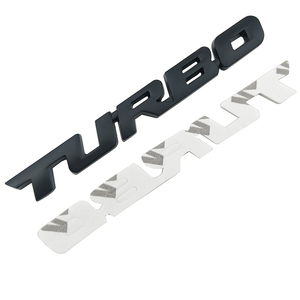 Image 4 - 3D Car Sticker Metal TURBO Emblem Body Rear Tailgate Badge For Ford Focus 2 3 ST RS Fiesta Mondeo Tuga Ecosport Fusion