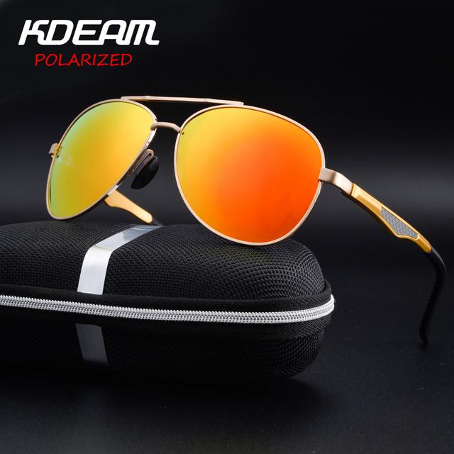 KDEAM homens de Alumínio E Magnésio Polarizada óculos de Sol Espelho Revestimento Reflexivo Óculos Masculino óculos de Sol Óculos Para Os Homens