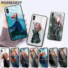 WEBBEDEPP Brave Princess Movie Glass Phone Case for Apple iPhone 11 Pro X XS Max 6 6S 7 8 Plus 5 5S SE