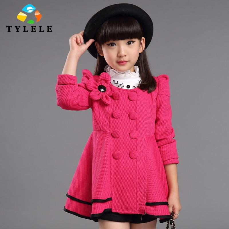 2016 Lente Herfst Mode jas voor meisje jas Meisjes bovenkleding - Kinderkleding