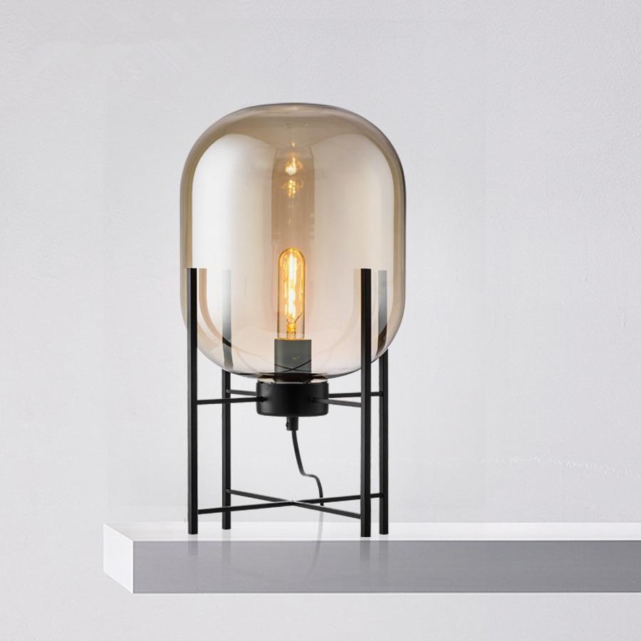 Modern Glass Table Lamp LED Bedroom Bedside lamp Art deco - Onetime