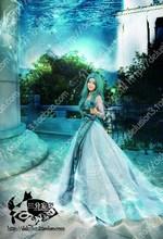 Бесплатная доставка Сейлор Мун Принцесса Серенити Tsukino Усаги зеленое платье косплей костюм свадебное платье для вечеринки/женские