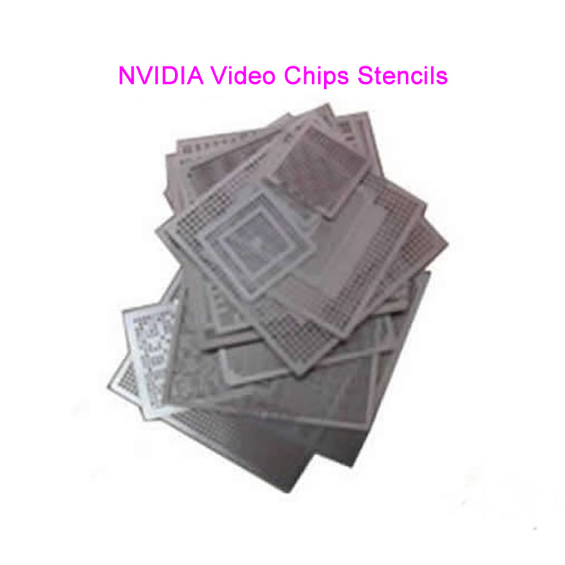 Direct Heat NVIDIA Video chips Stencils 56pcs for NVIDIA graphics card chips For BGA Reballing Rework