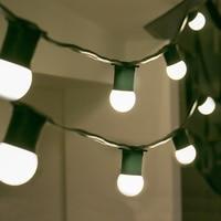 Nuevo Thrisdar 10M 20 LED ambiente comercial LED guirnalda de luces E27 3W globo bombillas Patio exterior