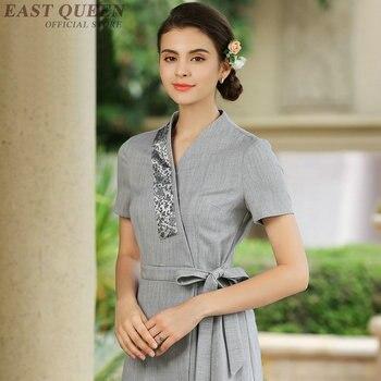 d3977e82b4f Spa тайский массаж косметолог Униформа салон красоты красивые официантка  красивые клинических униформы женщина медицинской платье платья .