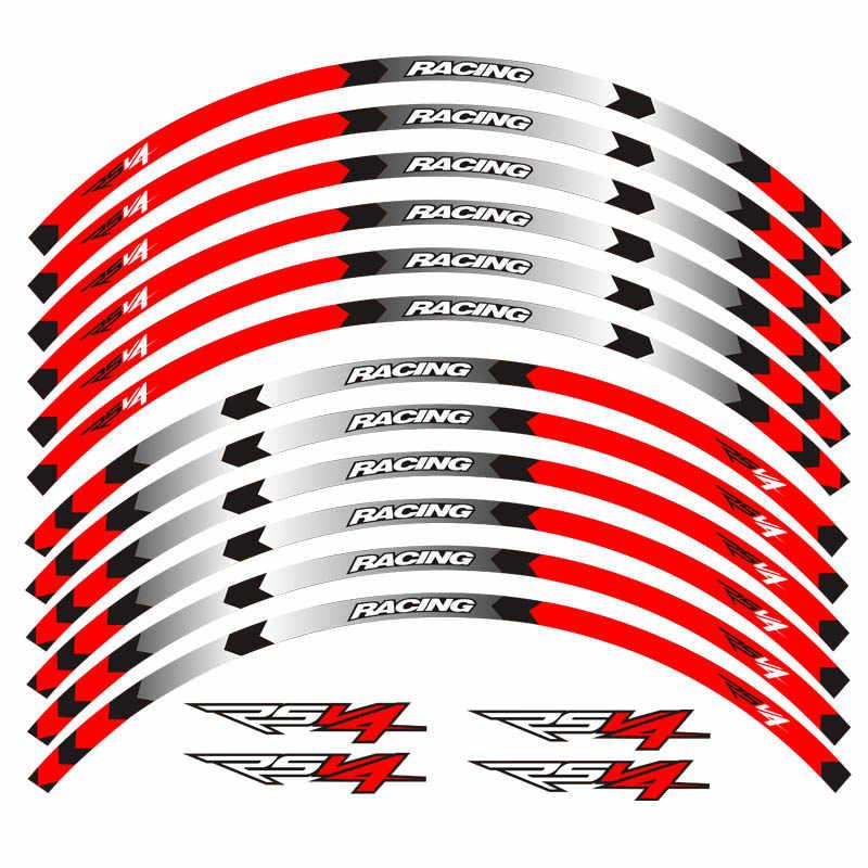 Горячая продажа мотоцикл Высокое качество колесная наклейка светоотражающие наклейки для Aprilia RSV4 R/RR RSV4 RF RSV4 RFW MISANO RSV4 фабрика ABS