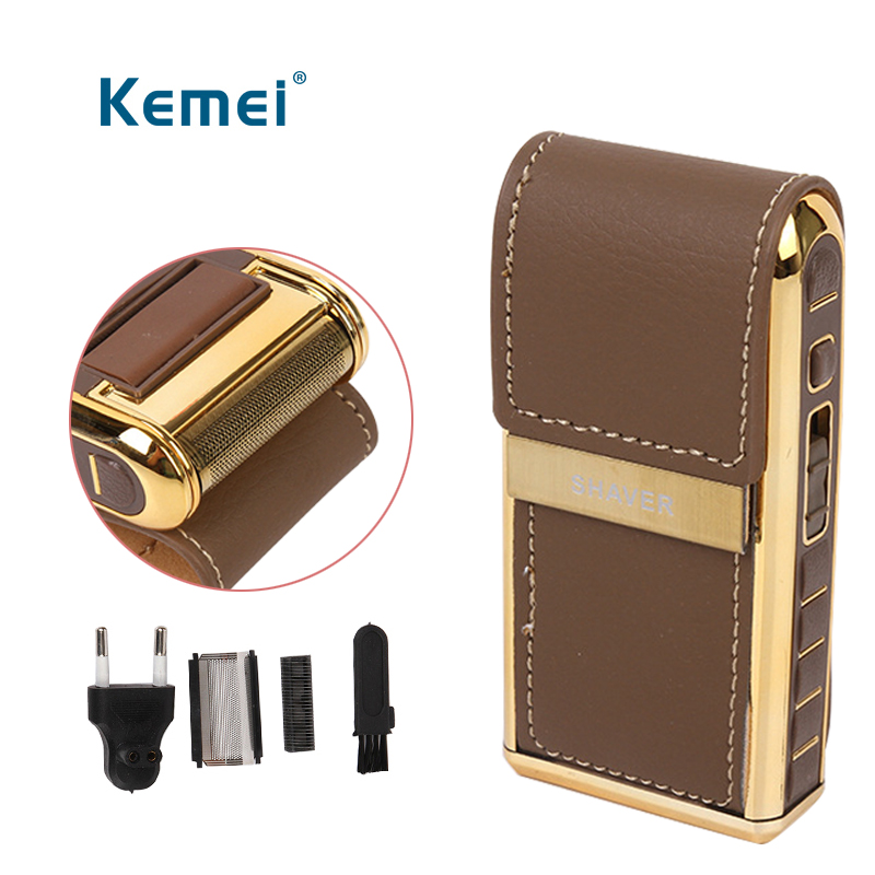Electric Reciprocating hair trimmer Razor Vintage Leather Wrapped Portable Mens Beard Trimmer Clipper tool kitElectric Reciprocating hair trimmer Razor Vintage Leather Wrapped Portable Mens Beard Trimmer Clipper tool kit