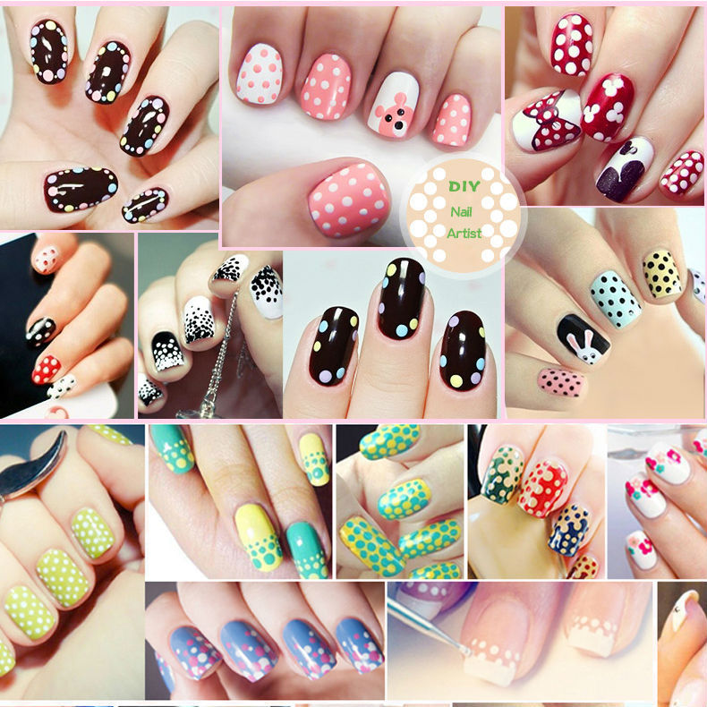 Bk Brand New Nail Art Decorations Set 7ml 3 Diy Polish And Dotting Pen Creative Polka Dot In From Beauty Health On