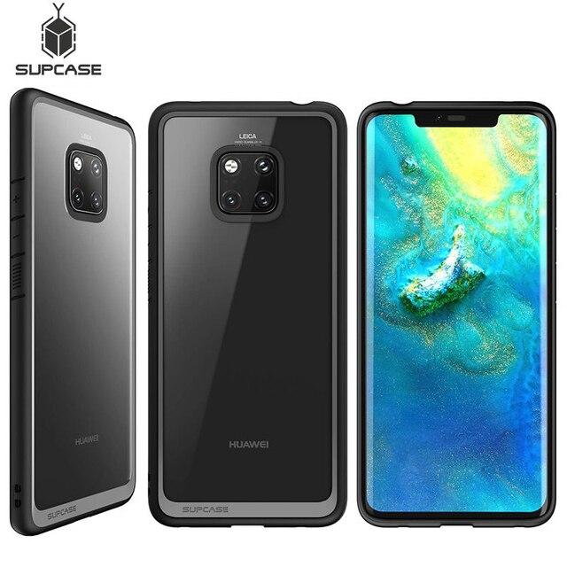 Pour Huawei Mate 20 Pro etui LYA L29 2018 SUPCASE Style UB anti coups Premium hybride pochette de protection en polyuréthane thermoplastique + coque arrière transparente