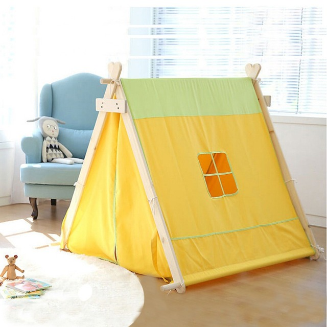 Free Love @square design new yellow color kids play tent indian teepee children playhouse children & Free Love @square design new yellow color kids play tent indian ...