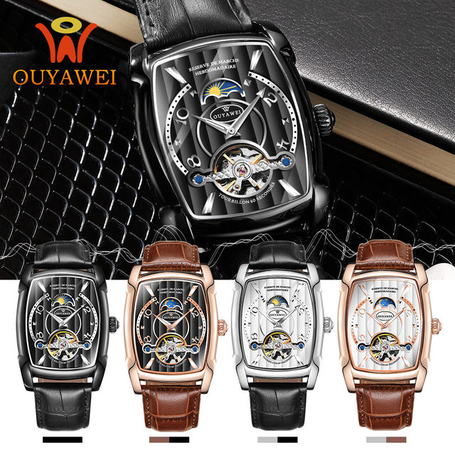 Automatic Skeleton Mechanical Tourbillon Wrist Watch 4