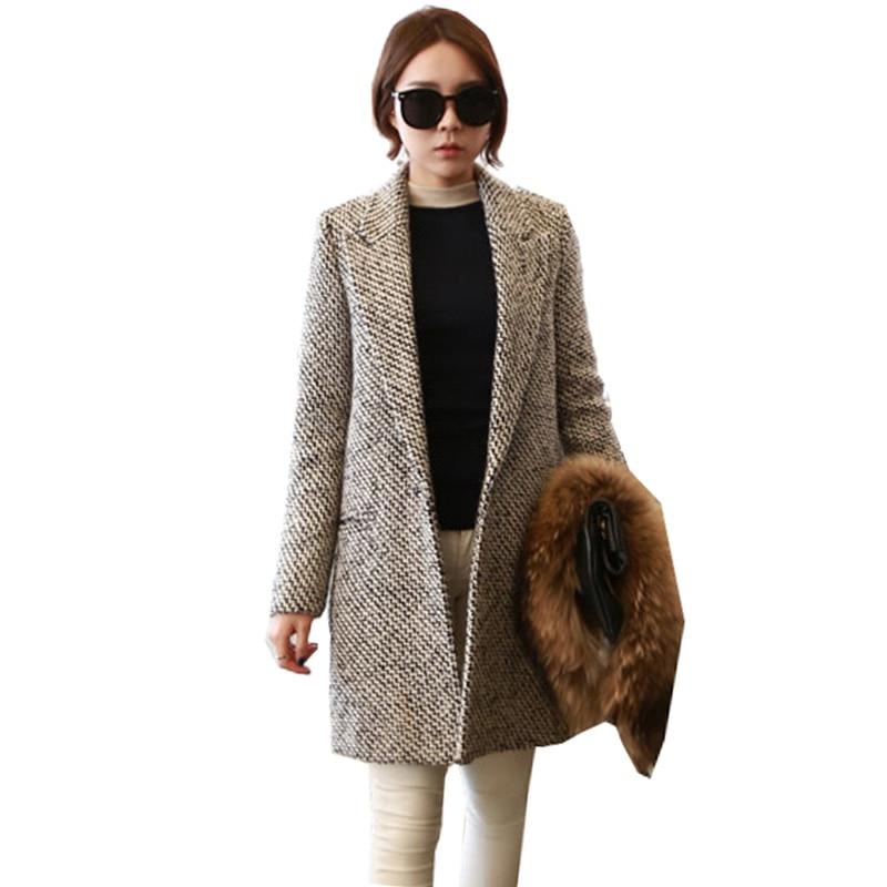 Online Buy Wholesale tweed long jacket from China tweed long ...