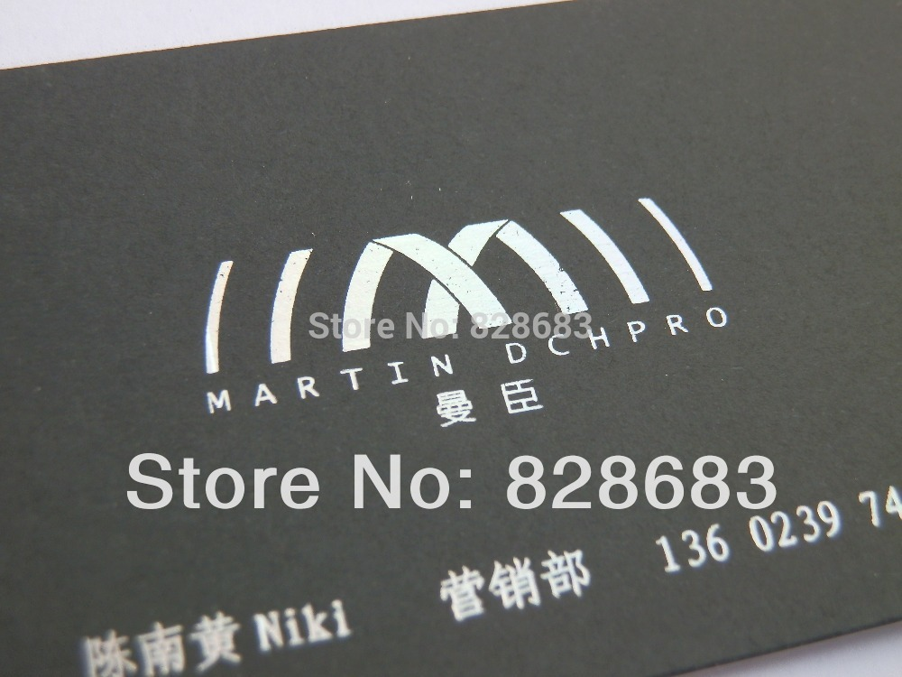 300grm art paper business card with hot stamping golden foil 500 pcs ...