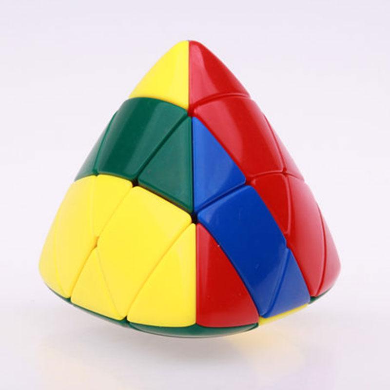 Shengshou Mastermorphix Magic Speed Cube Zongzi Ouă de ciocolată Puzzle cu autocolante Învățarea piramidei Cubo Magico Jucării pentru copii