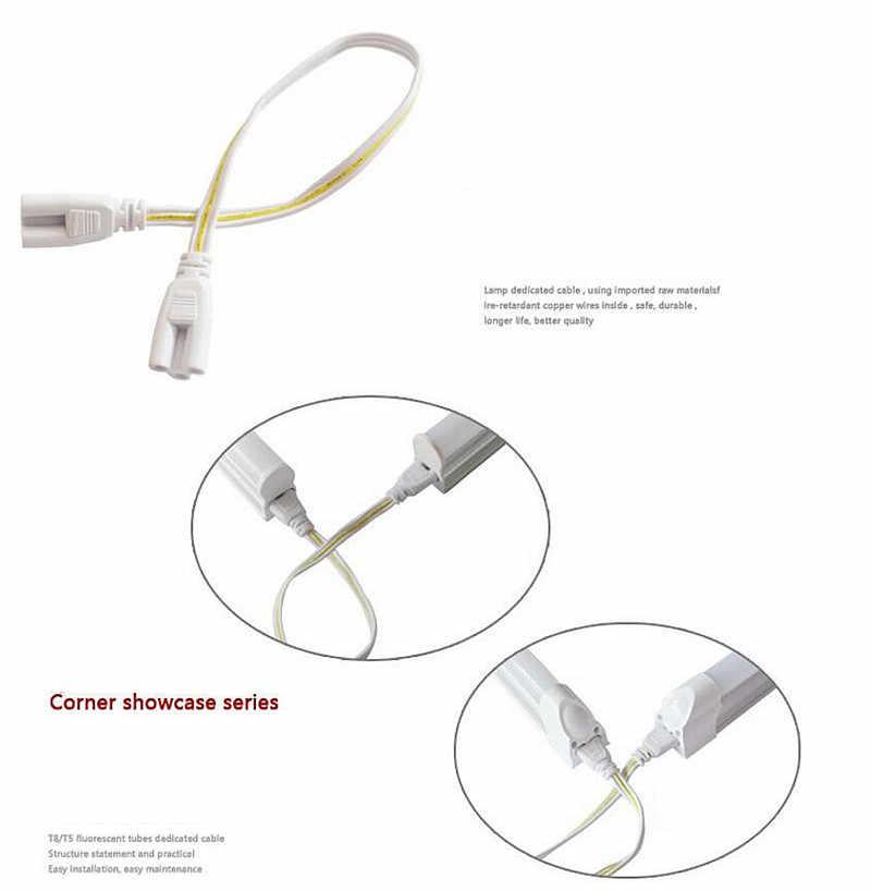 20 шт./лот 20 см 30 см 50 см T4 T5 T8 интегрированной люминесцентные лампы провода адаптера двойной конец 3 pin LED интегрированной трубки Кабельный разъем