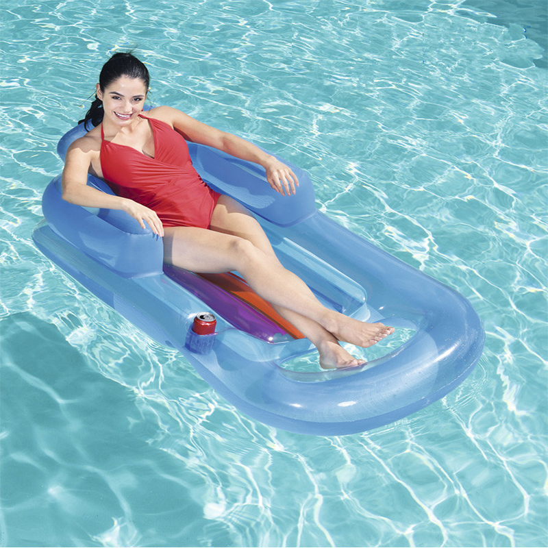 Inflatable Lounge Chair Hammock Sea Bed pool Float swimming circle Air Mattress water toys for child adult kids beach party