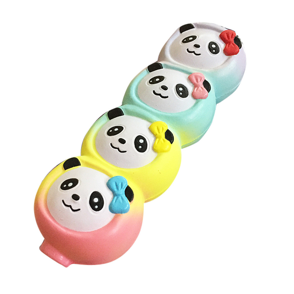 Cute Squishy Mini Small Squeeze Jumbo Stress Stretch Soft Four Cute Panada Scented Slow Rising Toys Gift Kid Toy Doll Gift Fun